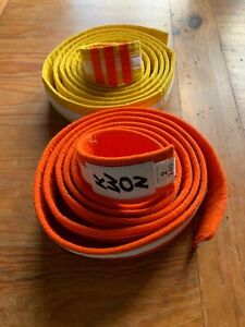 Karate Taekwondo belt - Orange belt- 2 Yellow-KWON