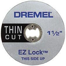 "DREMEL EZ409 ROTARY POWER TOOL 1-1/2"" EZ LOCK THIN CUT WHEELS (5) NEW SALE"