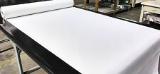 """5 YARDS CLASSIC WHITE FAUX LEATHER AUTO UPHOLSTERY FABRIC VINYL 54""""W PLEATHER"""