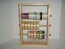 WOOD STORAGE RACK SPOOL RIBBON DISPLAY STICKER ORGANIZER HOLDER