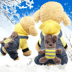 Puppy Pet Dog Cat Clothes Hoodie Winter Jacket Coat Costumes Apparel Sweater