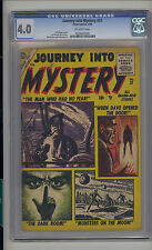 Journey into Mystery #31 CGC 4.0 VG Unrestored Atlas Marvel Scarce OW Pages