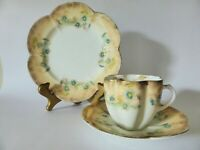 Antique Queens China Trio, G W & Sons Hand Finished Tea Cup, Saucer + Plate