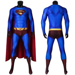 Superman Returns Costume Cosplay Suit Clark Kent 3D Printed for Men Outfit