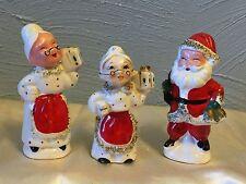 Vintage Commodore Christmas Trees Salt & Pepper & Toothpick Holder (Japan)