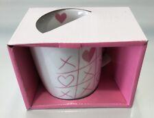 "GENERIC "" HEART ""  HANDLED COFFEE CUP MUG 370ML"