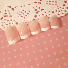 Fashion White French Nails 24 Pcs Classical Full Cover Short Oval False Nails RS