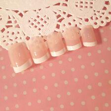 24Pcs Lady Women's French Style DIY Manicure Art Tips False Nails with