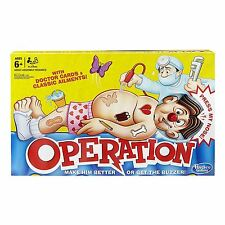 Hasbro Classic Operation Board Game Childrens Hospital Patient Electronic Buzzer