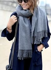 New Authentic Gray Acne Studio Scarf Cashmere Virgin Wool Shawl Large