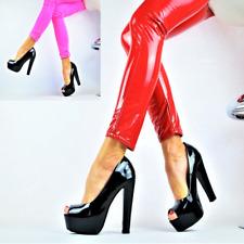 Charol Zapatos Mujer Fiesta de Tacón Sexy Plataforma Bloque Lujo Tacones Altos