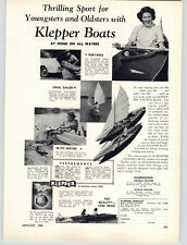 1950 PAPER AD Klepper Boats Portable Sailboat Folding Kayak