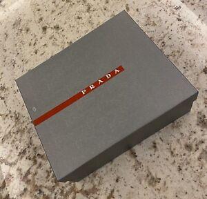 """Prada 100% Authentic Silver Gray Logo Box Storage Gift Shoe Empty 12 x 10 x 4.5"""""""