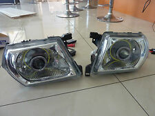 Nissan Patrol GU1,2 and 3 Headlights withTwin Halos, HID Projectors + Devils Eye