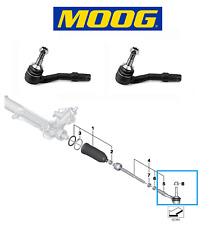 2X BMW 5 6 7 SERIES E60 E61 E63 E65 / Front Axle L+R Outer Tie Rod End MOOG
