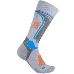 Kids Winter Ski Long Socks Boys Girls Sport Antibacterial Light Grey 2 sizes