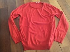 PULL / SWEAT MAJE, col rond, lien cuir, soie/cachemire T. 2 (38/40), NEUF