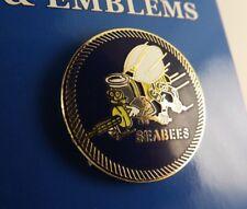 "BRAND NEW Lapel Pin United States Navy SEABEES Blue & White Enamel 1"""