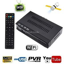 HD Audio DVB-S2 Digital Satellite Receiver IPTV Combo Youtube Wifi Key Tv Tuner