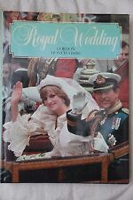 Royal Wedding by Gordon Honeycombe,First Edn,Hard Back, Lady Di, Charles,Royalty