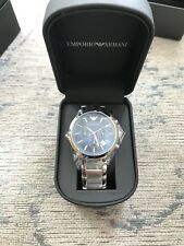 NEW EMPORIO ARMANI AR2448  MENS STAINLESS STEEL CHRONOGRAPH WATCH