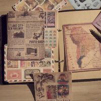 10 Stück Weinlese Art Papier Aufkleber Diy Scrapbooking Album Tagebuch Craft Dek