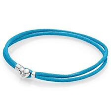"NEW! Authentic Pandora Turquoise Fabric Cord Bracelet  #590749CTQ-S3 (7.7"") $35"