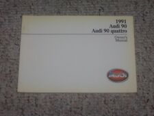 1991 Audi 90 & 90 Quattro Factory Original Owner's Owners User Manual