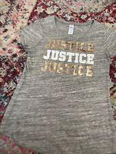 justice - girls size 10--sequin logo Shirt NWOT