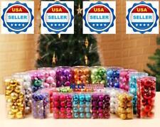 24 ct Shatterproof Christmas Ornament Tree Hanging Balls Holidays Decor HOT PINK