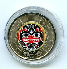 2020 $2 CANADA COLOR TOONIE BILL REID GRIZZLY BEAR TWO DOLLAR IN PLASTIC CAPSULE