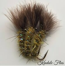 Olive Cdc Holo Suspender Buzzer Size 10 (Set of 3) Fly Fishing Flies Trout