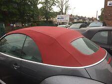 VW Beetle 2002-2010 NUOVA Borgogna Mohair Cappuccio con finestra di vetro riscaldato