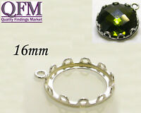 3 pcs Sterling Silver 925 Bezel Cups available Round and Oval