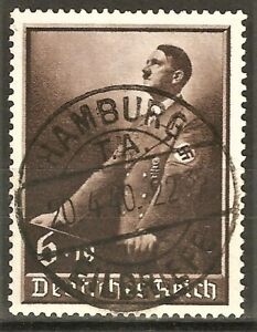 DR WWII Germany Rare WW2 Stamp Used 20.4.1940 Hitler Speech at Party Congress