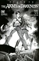Death to the Army of Darkness 1E Andolfo B&W 1:10 Variant Dynamite 2020