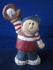 Eddie Walker Baseball Boy Jersey #7 with Mitt & Ball, Red White Blue 4th of July