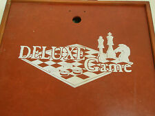 Vintage Deluxe Board Game in Carry Case 15 Game Options Made in China