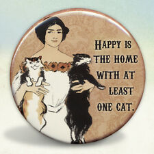 Happy Home Two Cats Pocket Mirror Tartx