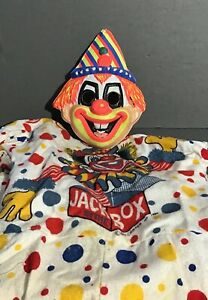 Vintage Halloween Costume Jack in the Box/Clown with Mask 1966