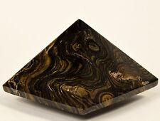 "2.3"" Stromatolite Pyramid Carved Algae Fossil Gemstone Crystal Mineral from Peru"