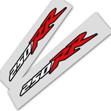 250rr CBR Fireblade MOTO Calcomanías Gráficos Rojo Blanco y negro x 2 unidades