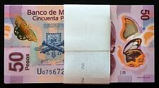 Banco de Mexico 100 X 50 Pesos Polymer Series P 13.MAY.2015. Bundle. Crisp UNC.