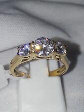 BEAUTIFUL SIMULATED DIAMOND ENGAGEMENT RING STAINLESS STEEL UK L.USA 6