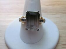 Sterling Silver Real Smoky Quartz Gem Ring Size 8 Jewelry 925