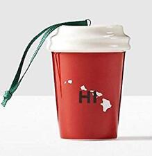 Starbucks Hawaii HI Ornament USA State Coffee Red Mug 2016 Christmas Ceramic