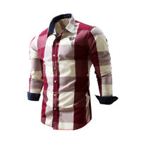 Mens Long Sleeves Shirts Luxury Casual Formal Dress Business Multicolor ZC6429