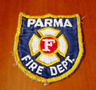 Parma Fire Dept Patch Shield Shaped Embroidered Cloth Blue White Red Yellow Trim