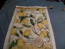 Michel Design Works Cotton Kitchen Tea Towel  Lemon Basil with Hanging Loop New