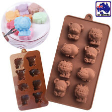 8 Cavities Animals Silicone Mould  Lion Bear Hippo Cow Chocolate Mold HKIM23808